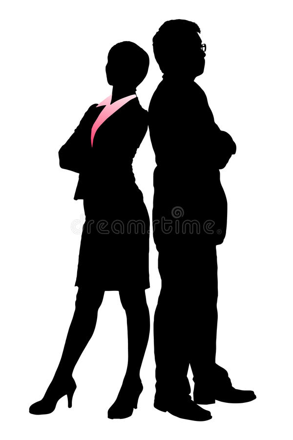 Download Silhouettes Of Business Team Stock Vector - Image: 34797155
