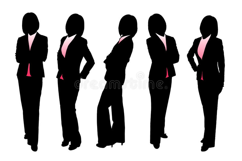 Download Silhouettes Of Business Woman Royalty Free Stock Photos - Image: 34136748