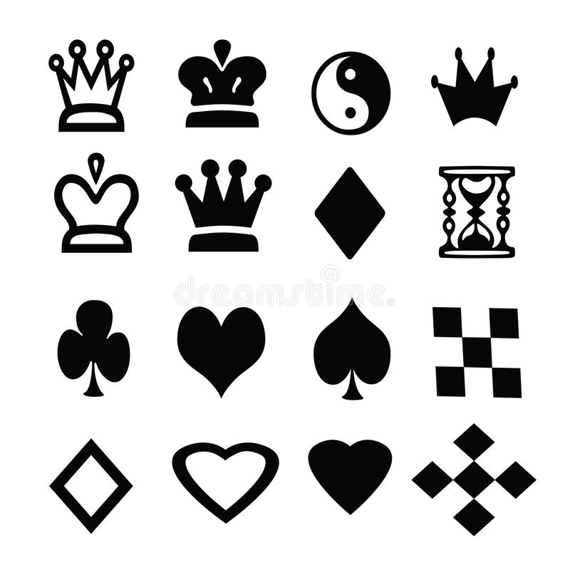 The silhouettes of the characters of Board games on a white background.  vector illustration