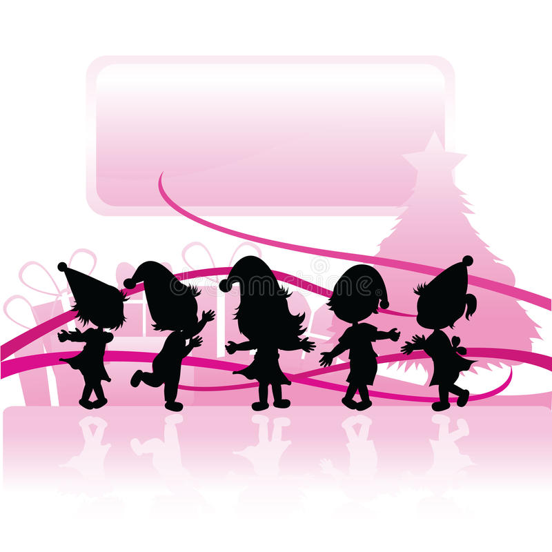 Download Silhouettes Christmas Children Stock Vector - Image: 12085415