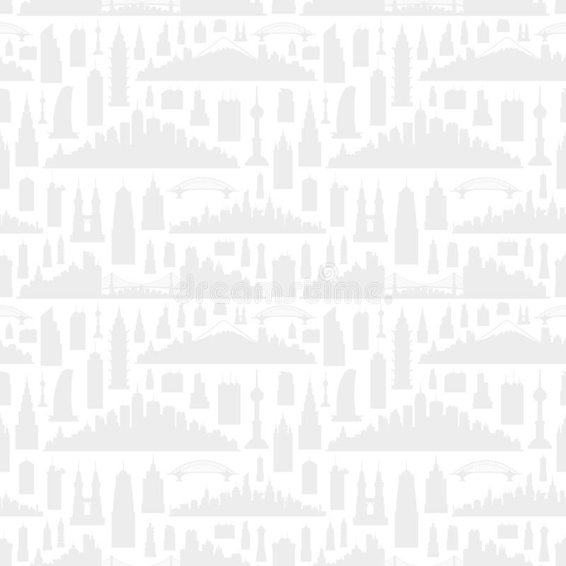Silhouettes of cities. vector illustration