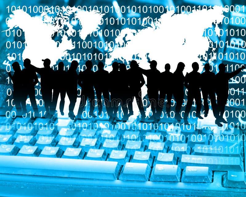 Silhouettes d'affaires image libre de droits