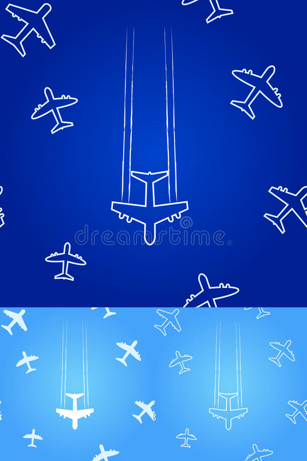 Silhouettes d'avion blanc illustration libre de droits