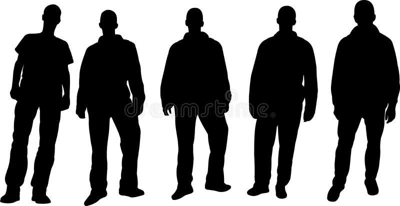 Silhouettes d'hommes illustration stock