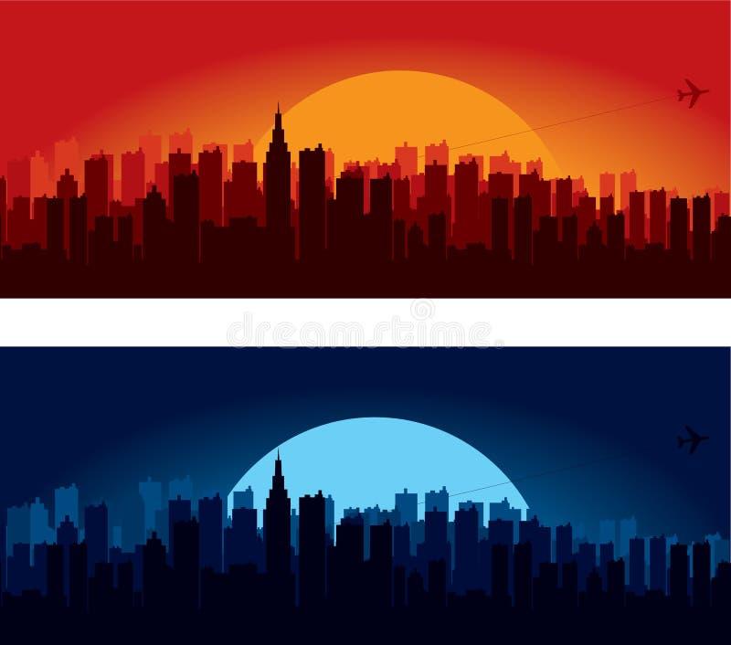 Silhouettes d'horizon de ville