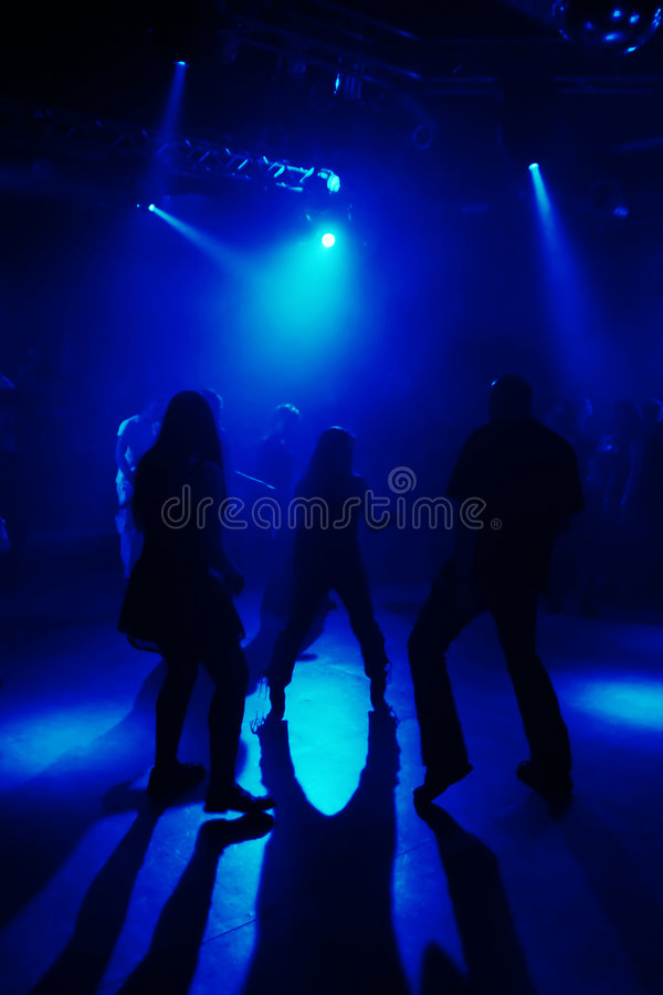 Download Silhouettes Of Dancing People Stock Photo - Image: 7109074