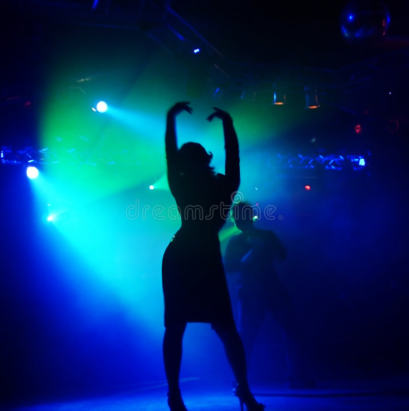 Download Silhouettes Of Dancing People Stock Image - Image of discotheque, event: 7502429