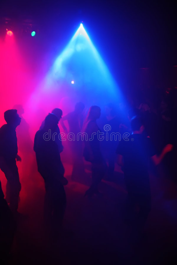 Download Silhouettes Of A Dancing Teenagers Stock Image - Image of laser, male: 1406679