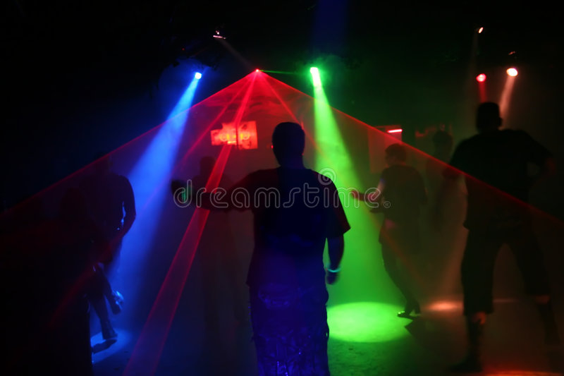 Download Silhouettes Of Dancing Teenagers Stock Photo - Image of house, party: 1700650