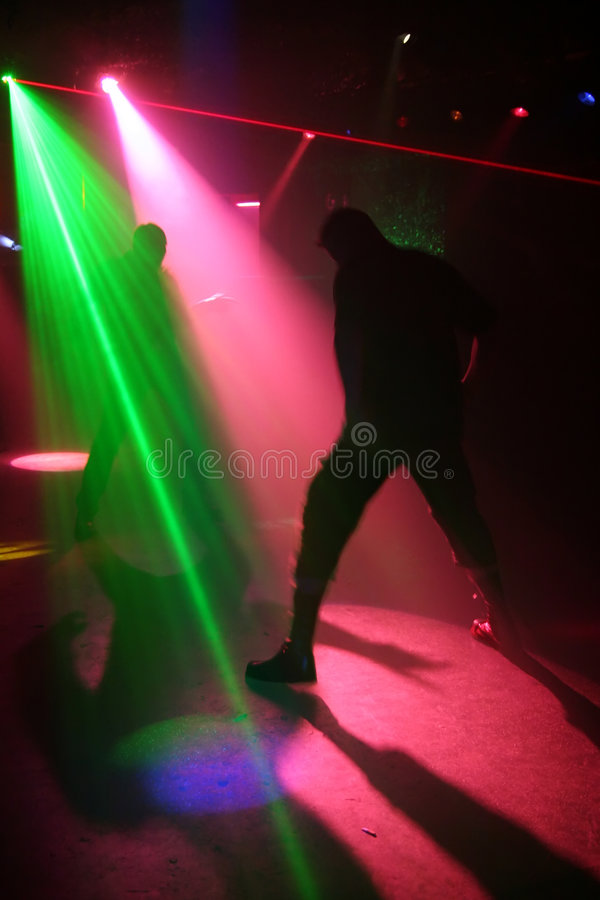 Download Silhouettes Of Dancing Teenagers Stock Photo - Image: 1700660