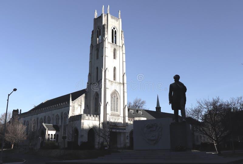 Silhouettes dans le début de la matinée de Washington DC image stock