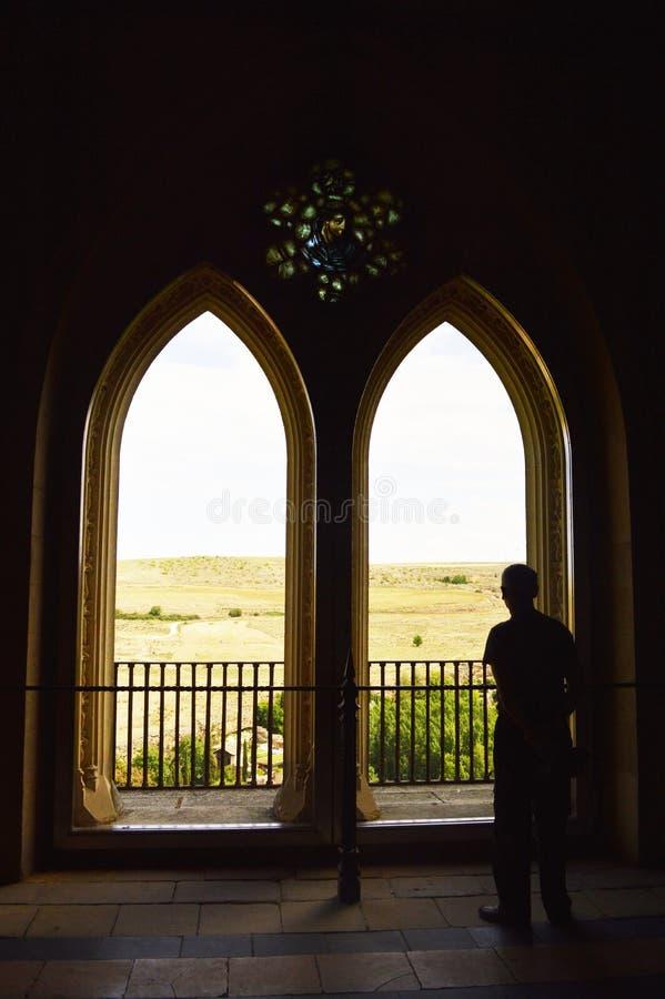 Silhouettes dans le ZAR de ¡ d'Alcà d'Espagnol photographie stock