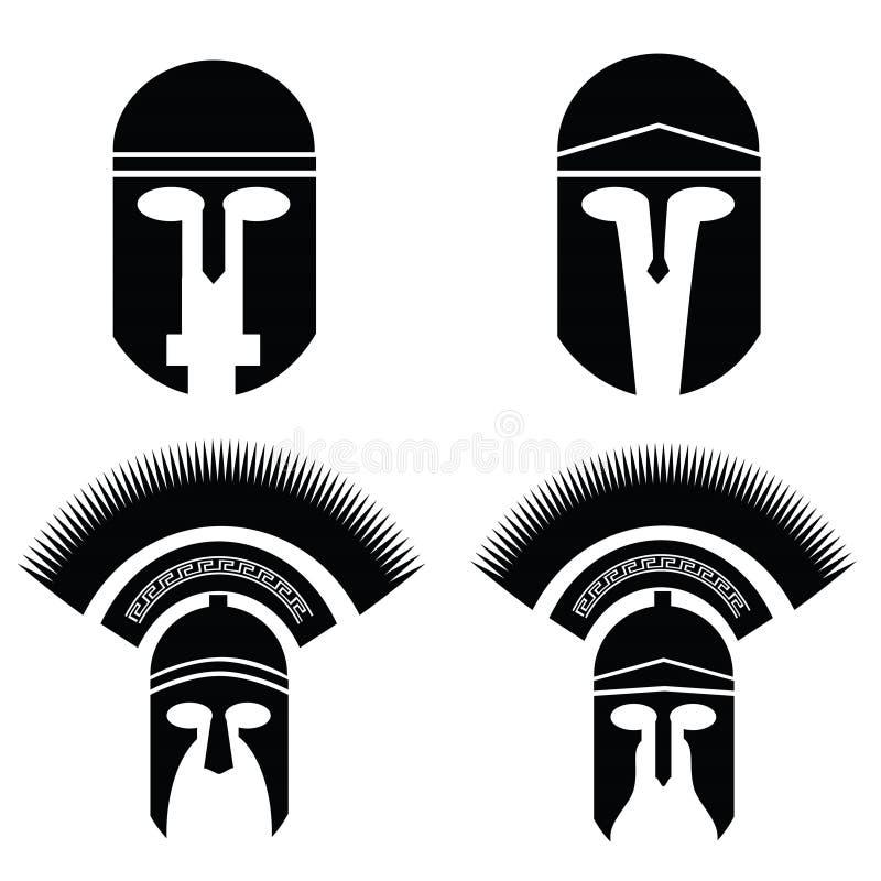Silhouettes de casque illustration libre de droits