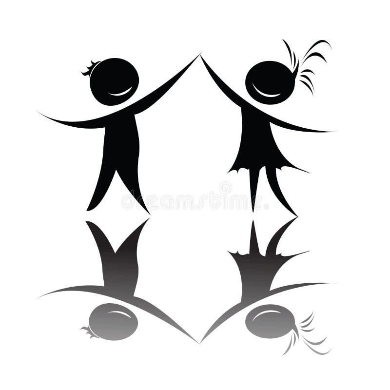 Silhouettes de danse illustration stock
