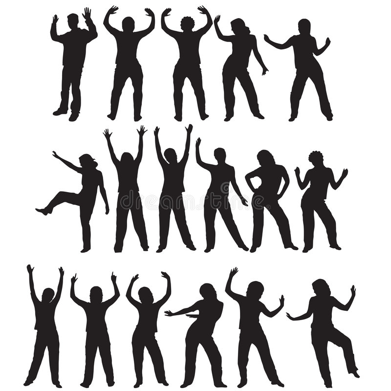 Silhouettes de danse illustration stock