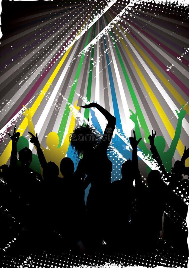 Silhouettes de danse illustration libre de droits