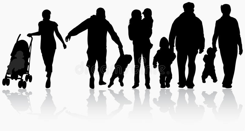 Silhouettes de famille illustration de vecteur