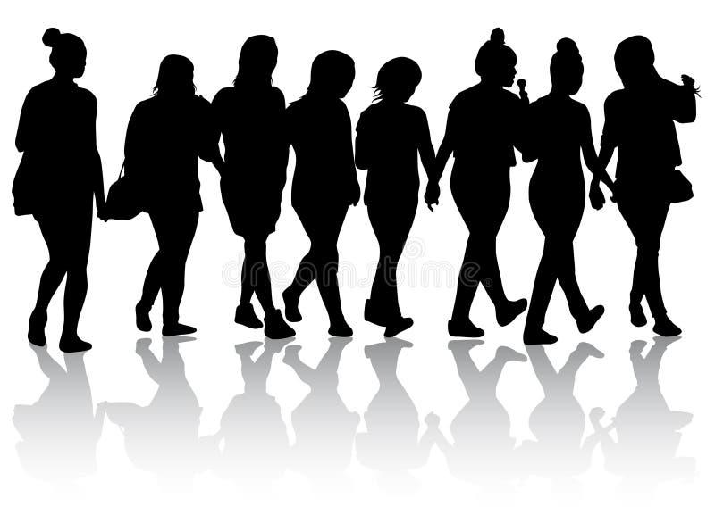 Silhouettes de femmes illustration de vecteur