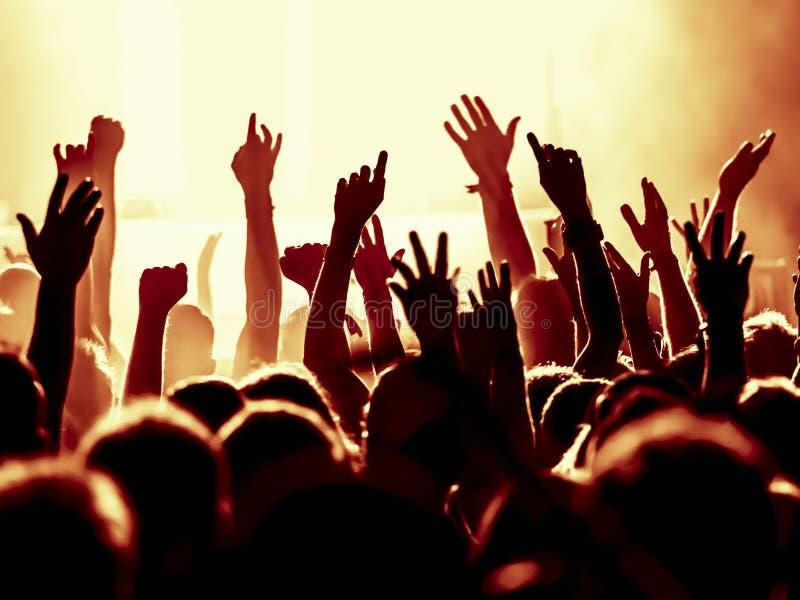 Silhouettes de foule de concert photos libres de droits