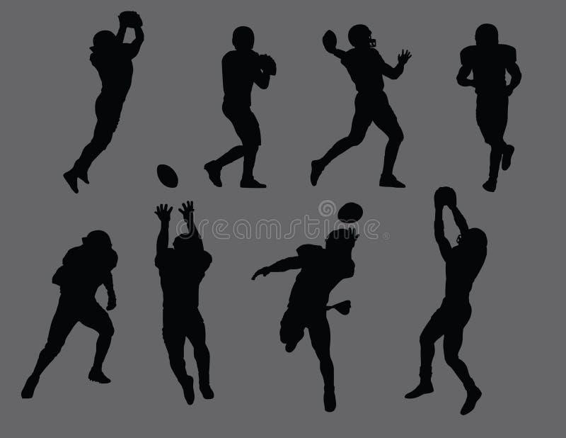 Silhouettes de joueur de football illustration libre de droits