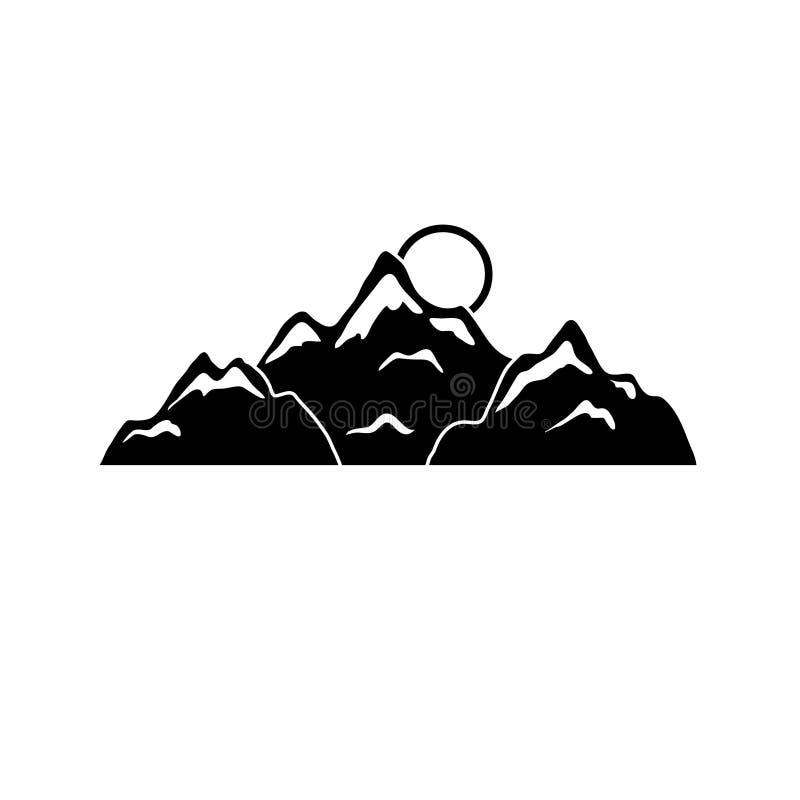 Silhouettes de montagne pour la conception photos libres de droits