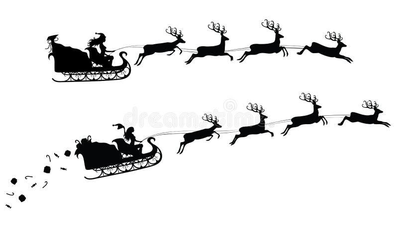 Silhouettes de Noël. illustration stock