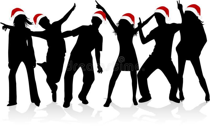 Silhouettes de Noël illustration libre de droits