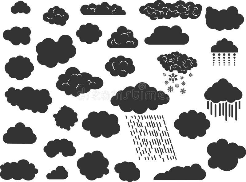 Silhouettes de nuage illustration stock