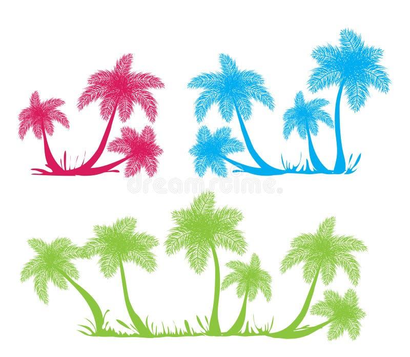 Silhouettes de palmier illustration libre de droits