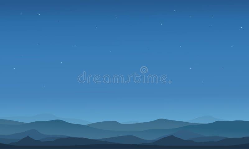 Silhouettes de paysage de désert illustration libre de droits
