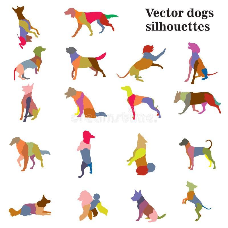 Silhouettes de races de chiens illustration stock
