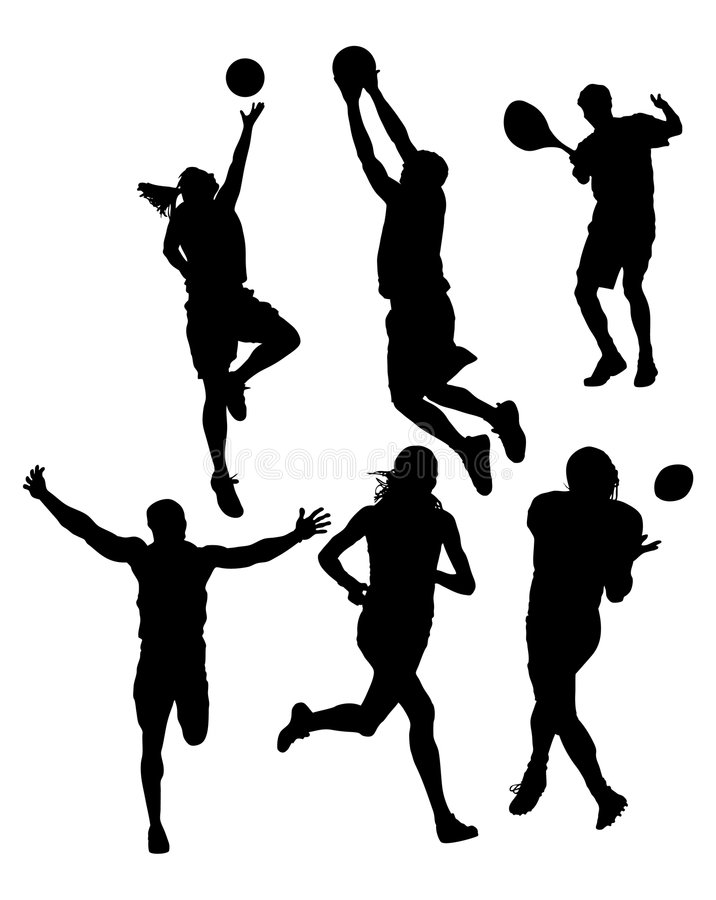 Silhouettes de sports illustration libre de droits