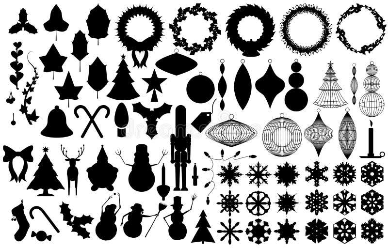Silhouettes de vacances illustration stock