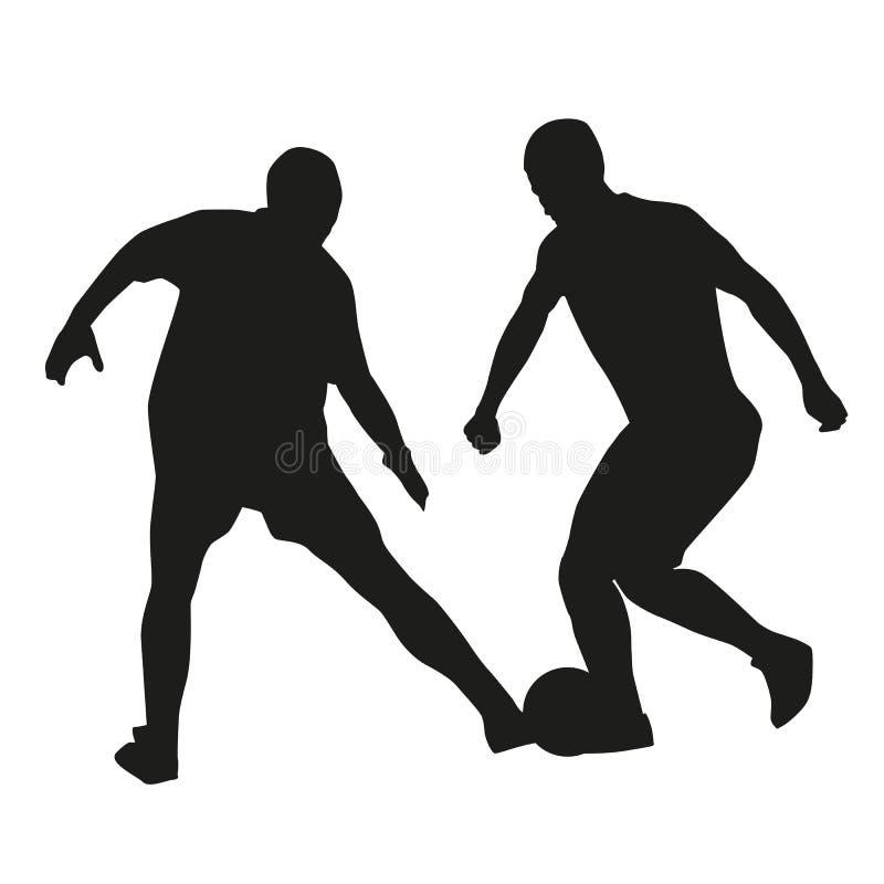 Silhouettes de vecteur des footballeurs illustration libre de droits