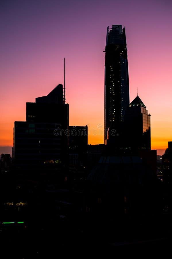 Silhouettes de ville images libres de droits