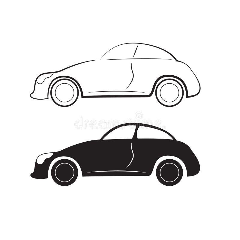 Silhouettes de voiture illustration de vecteur