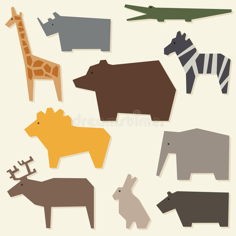 Silhouettes des animaux photographie stock