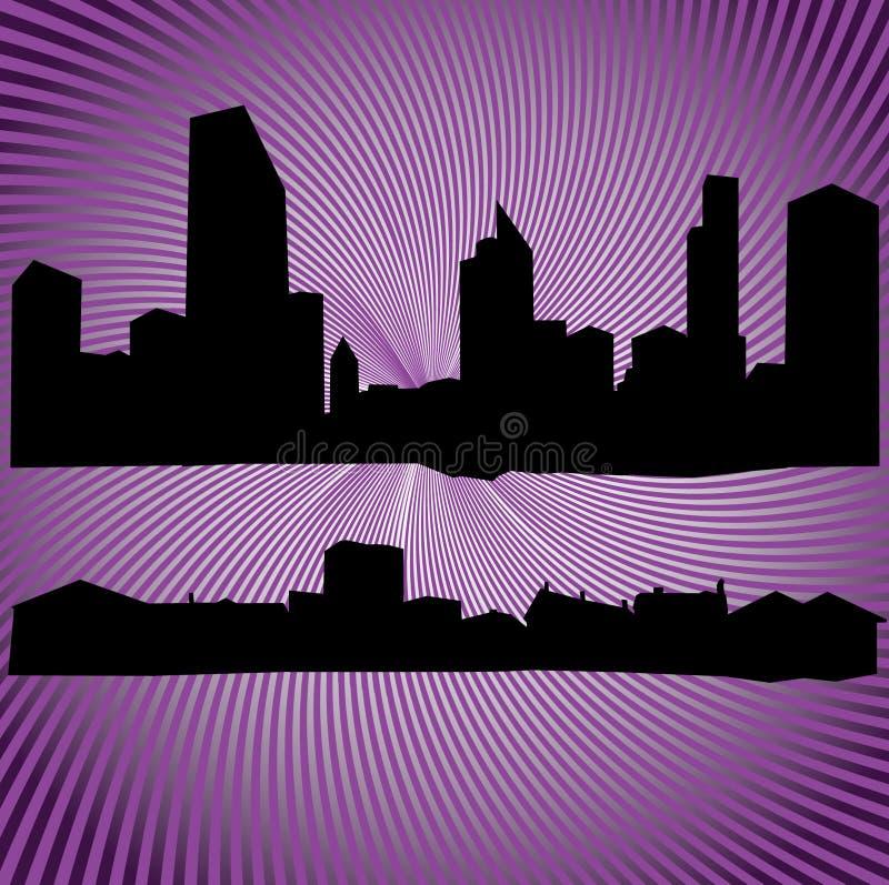 Silhouettes Des Constructions Et Des Maisons Photos stock