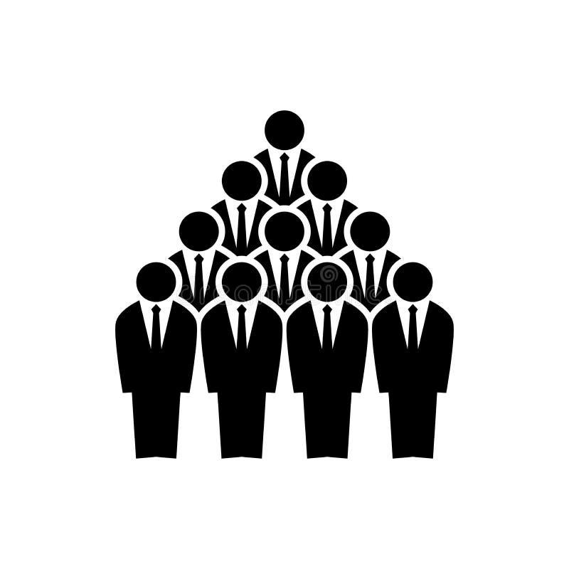 Silhouettes des employés d'équipe Concept de travail d'équipe de pyramide illustration de vecteur