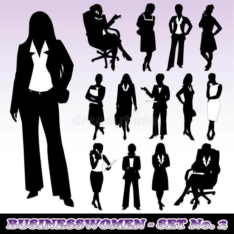 Silhouettes des femmes d'affaires illustration libre de droits