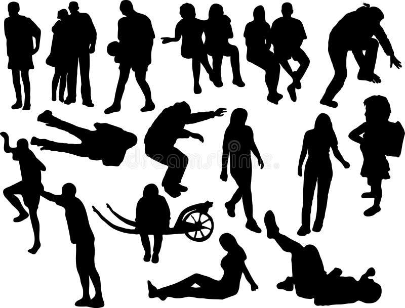 Silhouettes des gens illustration de vecteur