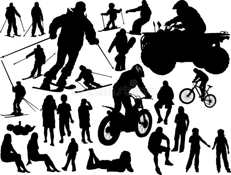 Silhouettes des gens illustration stock