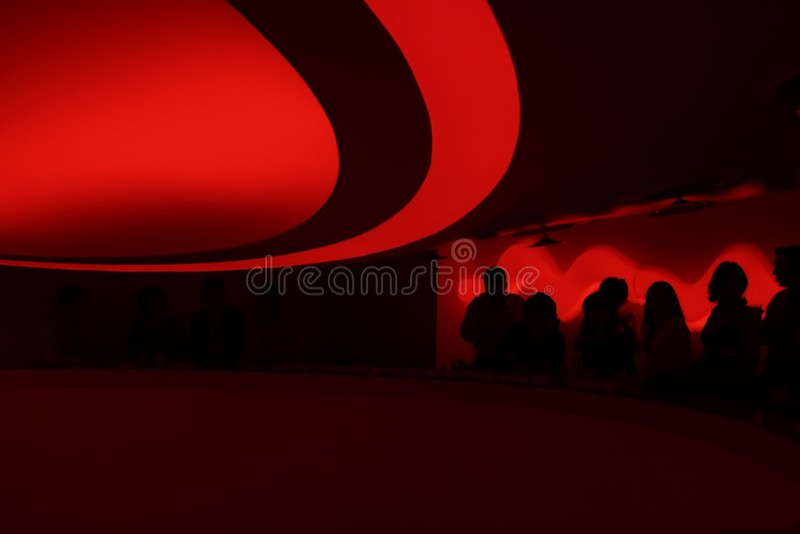 Silhouettes In A Discotheque Stock Photos
