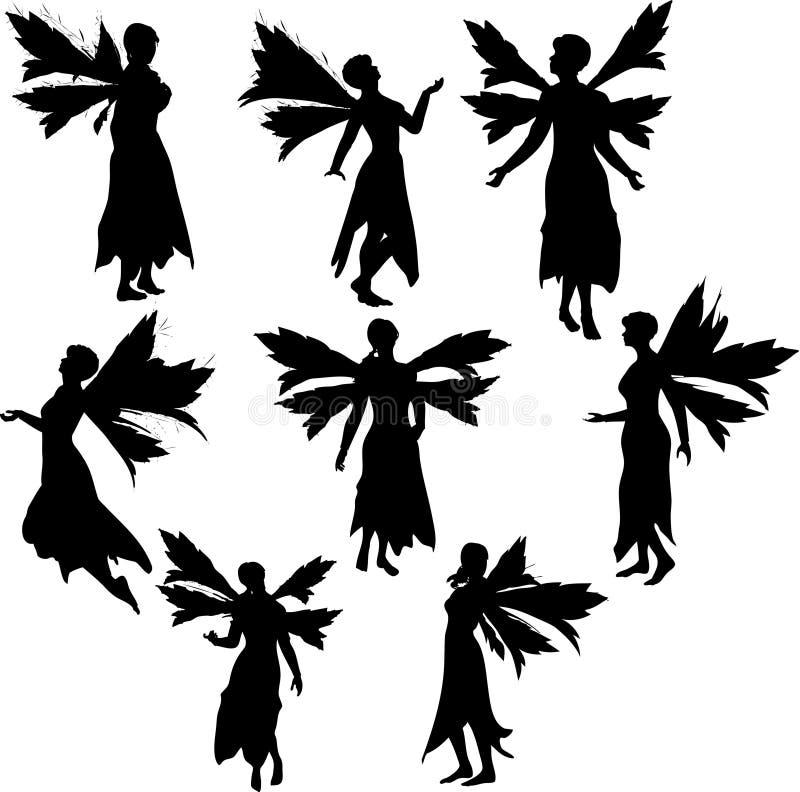 Silhouettes féeriques illustration de vecteur