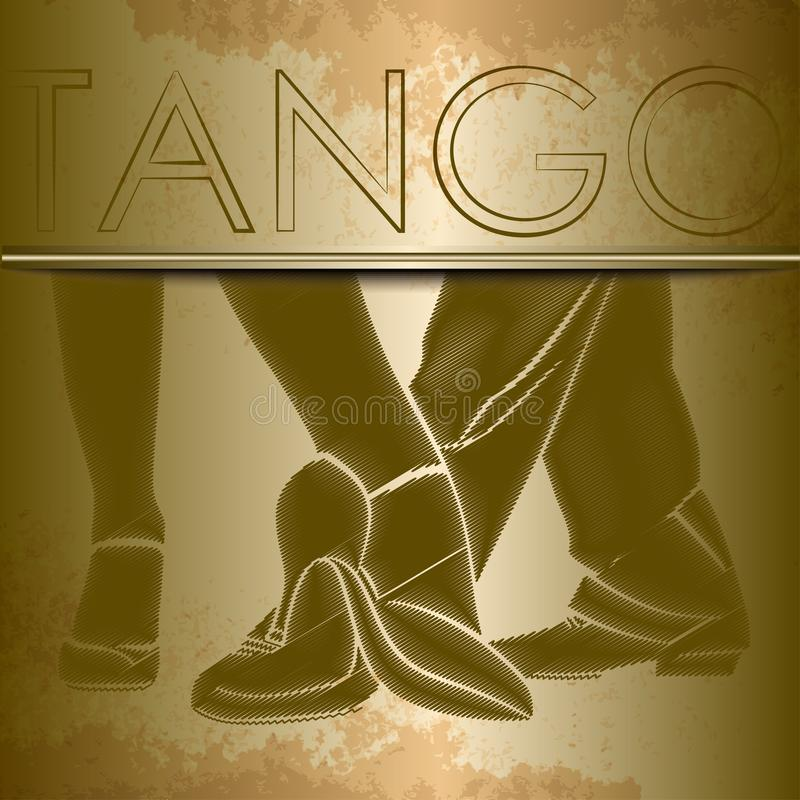 Silhouettes of feet of dancing people royalty free illustration