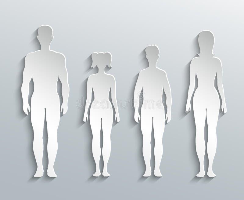 Silhouettes humaines illustration libre de droits