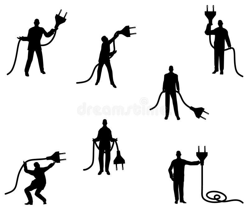 Silhouettes mâles débranchées illustration libre de droits