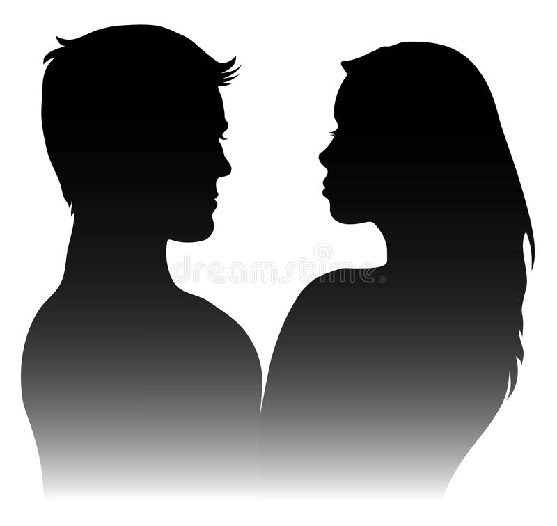 Download Silhouettes Of Men And Women Stock Vector - Image: 34272764