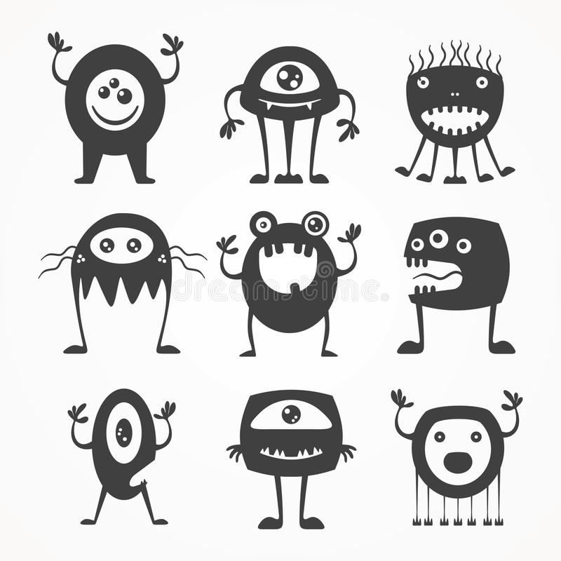 Download Silhouettes of monsters stock vector. Illustration of imagination - 42186663