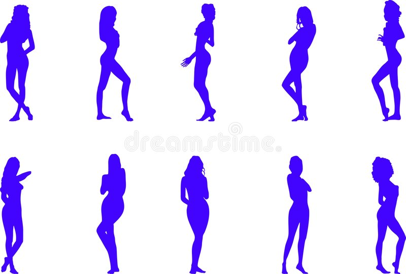 Download Silhouettes Of The Naked Women Stock Vector - Image: 5829668